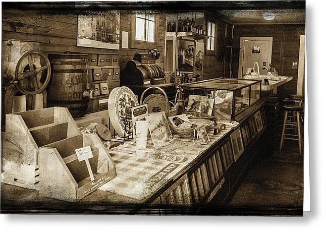 Old Grinders Digital Art Greeting Cards - General Store Greeting Card by Lisa and Norman  Hall