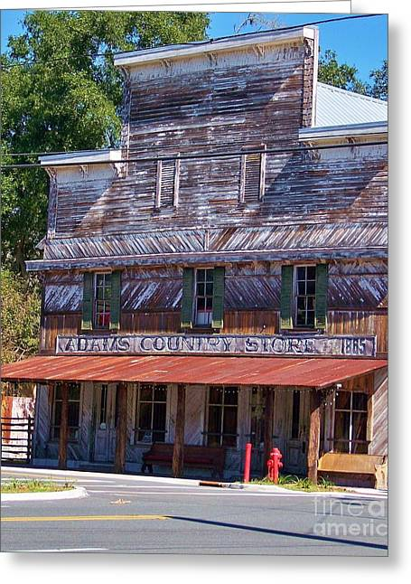 Tin Roof Greeting Cards - general store N Florida Greeting Card by Chuck  Hicks