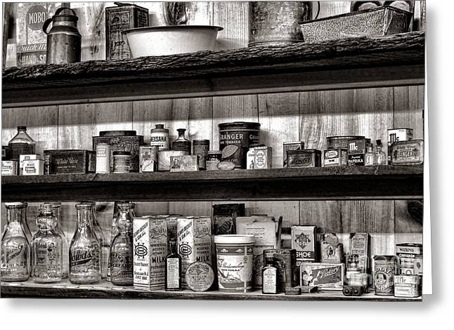 Historic Country Store Photographs Greeting Cards - General Store Shelves Greeting Card by Olivier Le Queinec