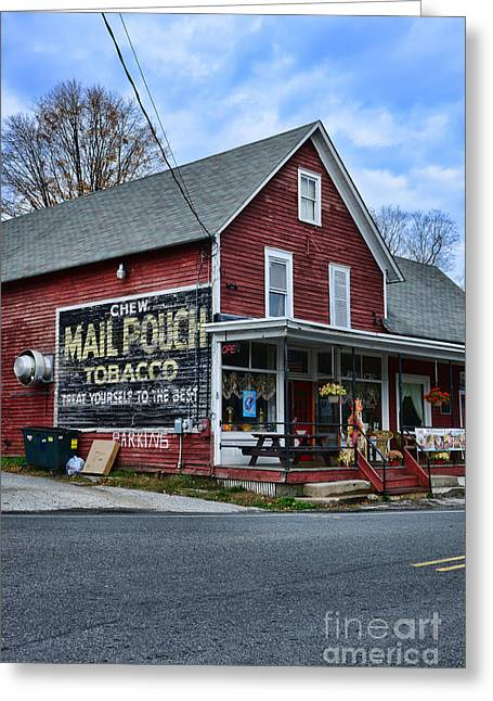 Chewing Tobacco Greeting Cards - General Store with Tobacco Ad Greeting Card by Paul Ward