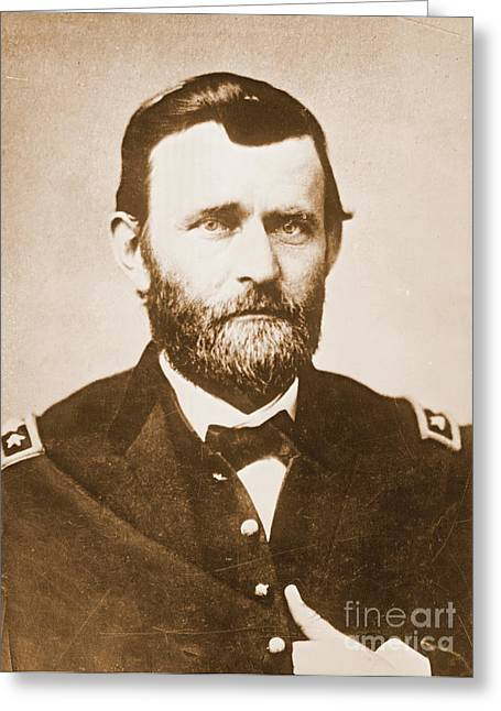 General Ulysses Grant C1865 Greeting Card by Padre Art