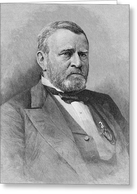 Republican Greeting Cards - General Ulysses Simpson Grant, Engraved From A Photograph, Illustration From Battles And Leaders Greeting Card by Mathew Brady