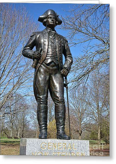 Independence Park Greeting Cards - General Von Steuben Greeting Card by Olivier Le Queinec