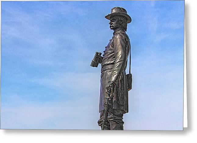 General Warren Statue at Gettysburg Greeting Card by Randy Steele