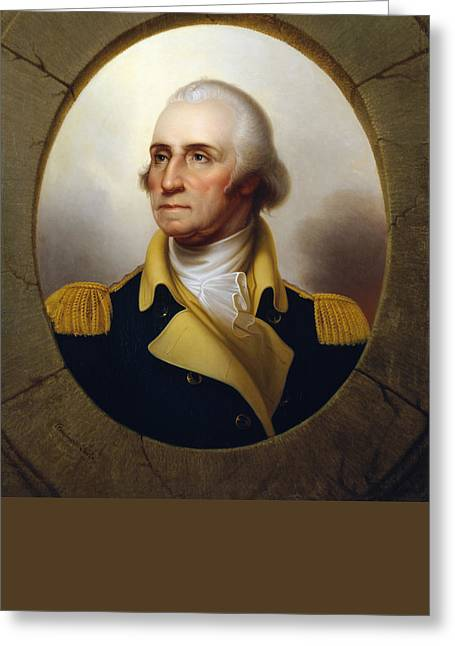 American Revolution Paintings Greeting Cards - General Washington at the Battle of Princeton Greeting Card by War Is Hell Store