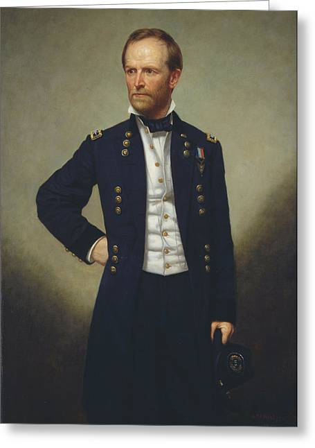 General Concept Greeting Cards - General William T Sherman Greeting Card by George Alexander