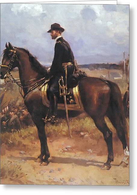 Recently Sold -  - Civil Greeting Cards - General William T Sherman Greeting Card by Thulstup