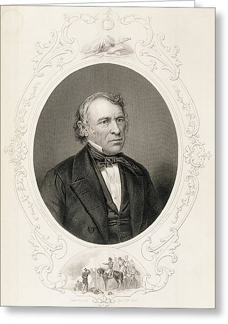 American Politician Photographs Greeting Cards - General Zachary Taylor, From The History Of The United States, Vol. Ii, By Charles Mackay, Engraved Greeting Card by Mathew Brady