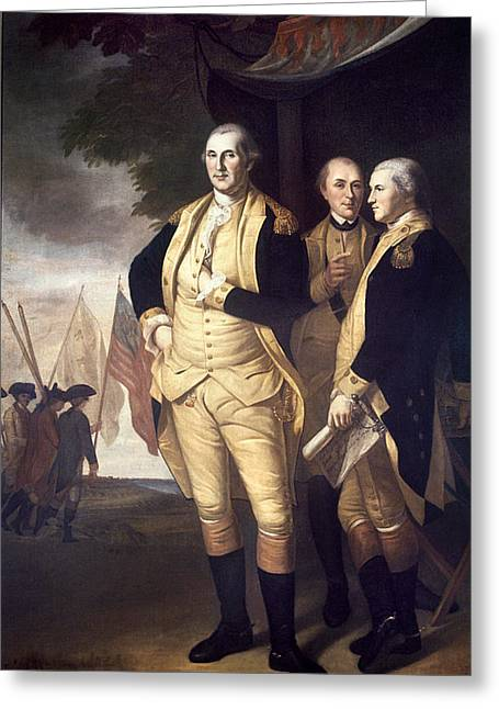 General Bradley Greeting Cards - Generals At Yorktown, 1781 Greeting Card by Granger