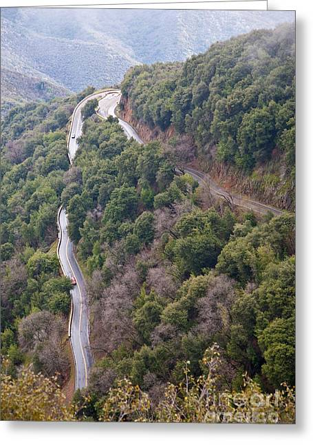 Mountain Road Greeting Cards - Generals Highway Greeting Card by Gregory G. Dimijian, M.D.