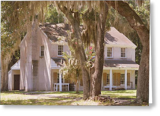 Civil War Battle Site Greeting Cards - Generals quarters at Fort McAllister Greeting Card by Linda Covino