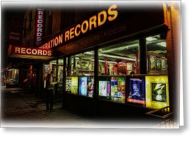 Music Store Greeting Cards - Generation Records II Greeting Card by Lee Dos Santos