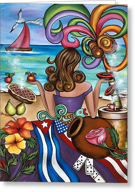 Recently Sold -  - Fruit Tree Art Greeting Cards - Generation Spanglish Greeting Card by Annie Maxwell