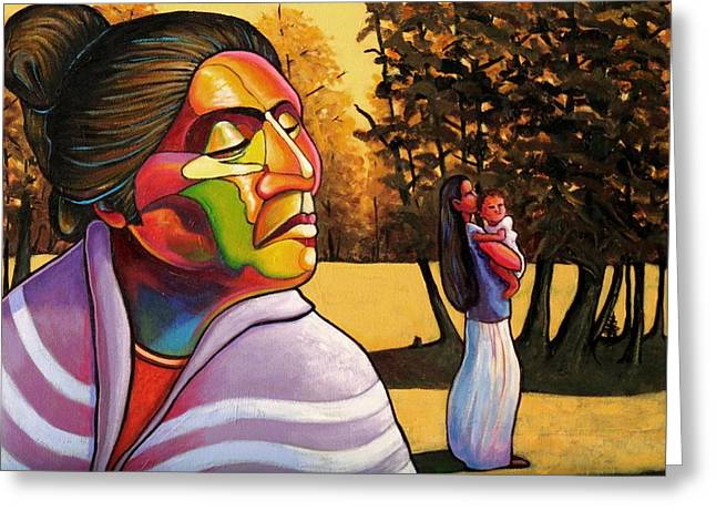 Woman In Color. Women In Color Greeting Cards - Generations Greeting Card by Joe  Triano