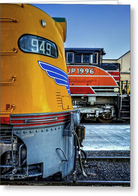 Diesel Locomotives Greeting Cards - Generations Greeting Card by Ken Smith