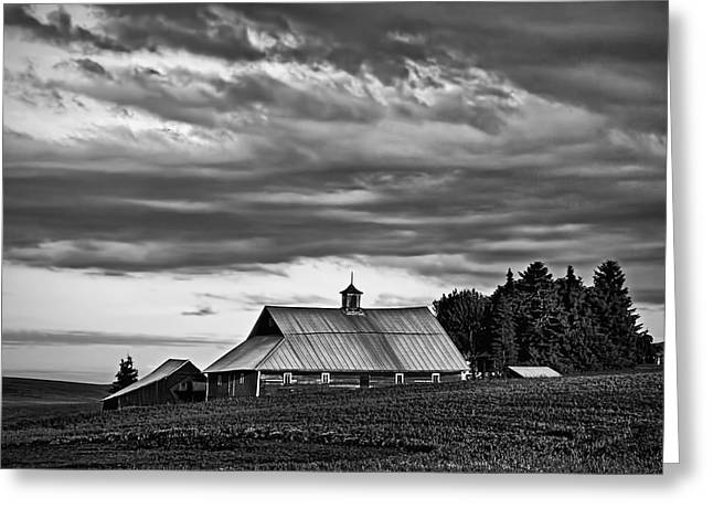 Pacific Northwest Greeting Cards - Genesee Barn Greeting Card by Latah Trail Foundation