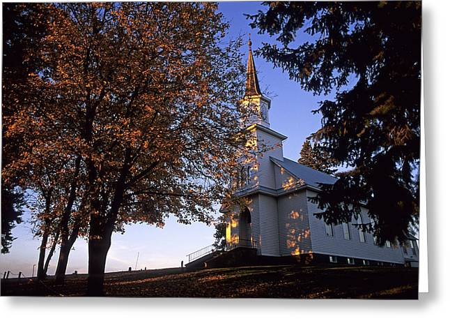 White Pine County Greeting Cards - Genesee Luthern Church Greeting Card by Latah Trail Foundation
