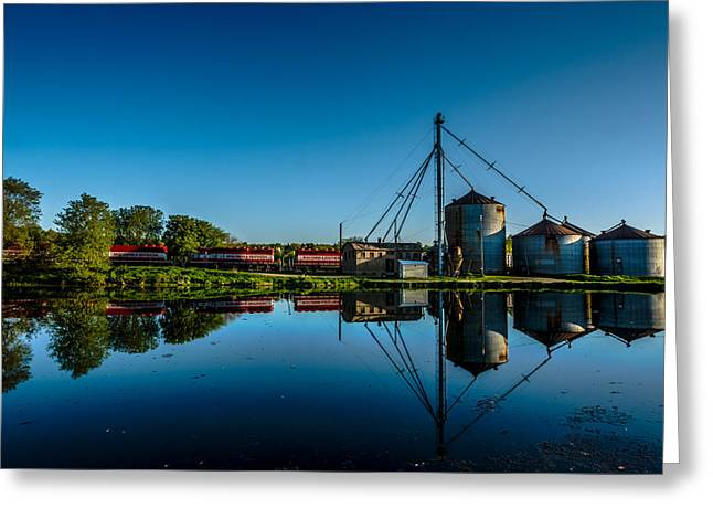 Genesee Mill Greeting Card by Randy Scherkenbach