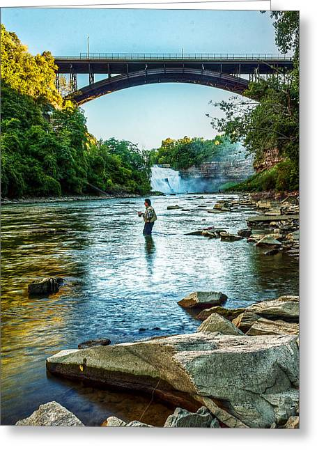 Rochester Artist Greeting Cards - Genesee River  Greeting Card by Tim Buisman