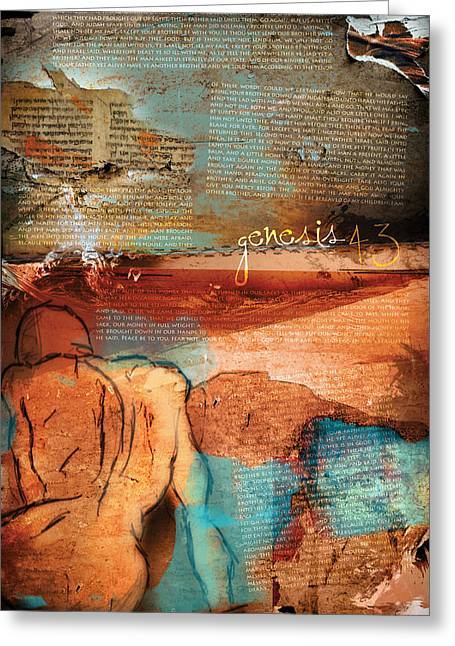 Gospel Greeting Cards - Genesis 43 Greeting Card by Switchvues Design