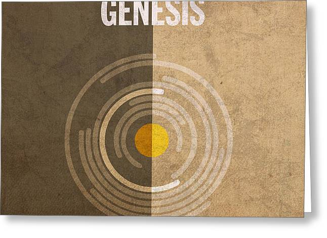 Genesis Books of the Bible Series Old Testament Minimal Poster Art Number 1 Greeting Card by Design Turnpike