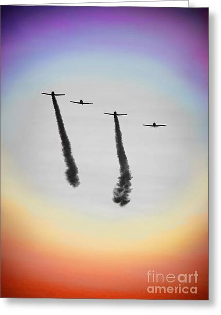 4th July Photographs Greeting Cards - Genesis Flyby Greeting Card by Chris Yarzab