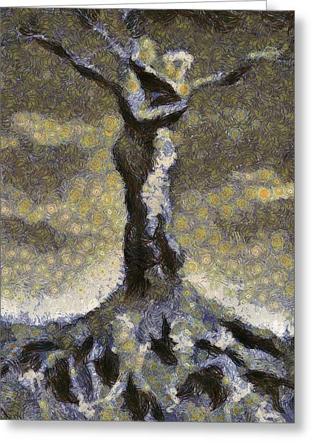 Genealogy Paintings Greeting Cards - Genesis Greeting Card by Leapdaybride