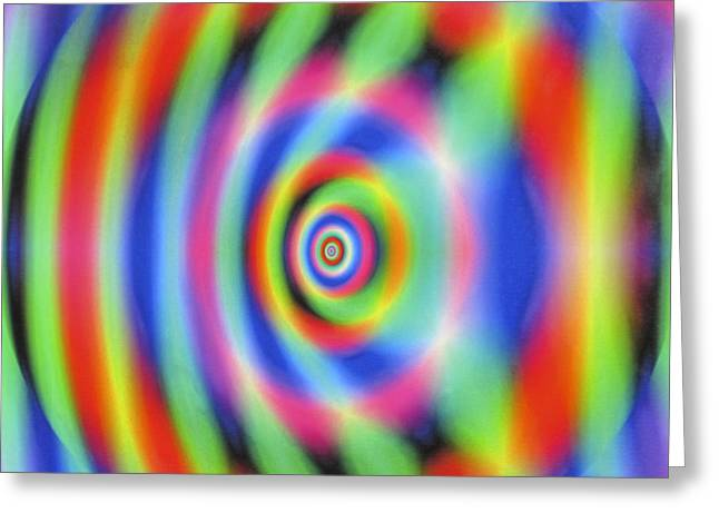 Mystic Art Greeting Cards - Genesis - The Big Bang Greeting Card by Dov Lederberg