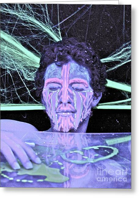 Outerspace Greeting Cards - Genesis Greeting Card by Xn Tyler