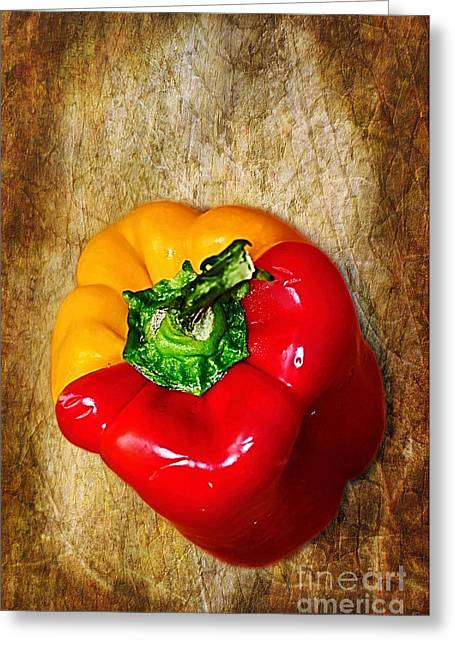 Modify Greeting Cards - Genetically Modified Capsicum Greeting Card by Kaye Menner