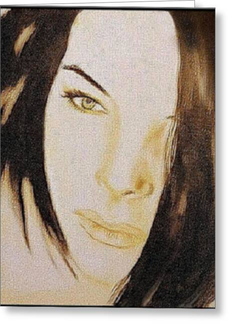 Geneva Girlfriend - Mab Greeting Card by Mirko Gallery