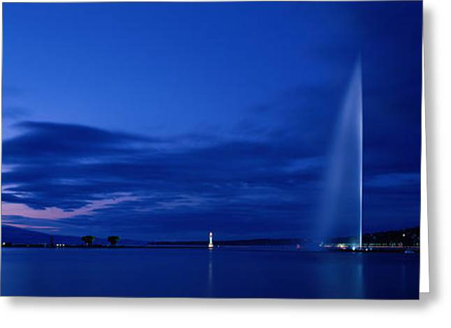 Placid Blue Greeting Cards - Geneva Switzerland Greeting Card by Panoramic Images
