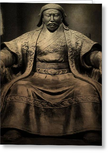 Historic Statue Greeting Cards - Genghis Khan Greeting Card by Dan Sproul