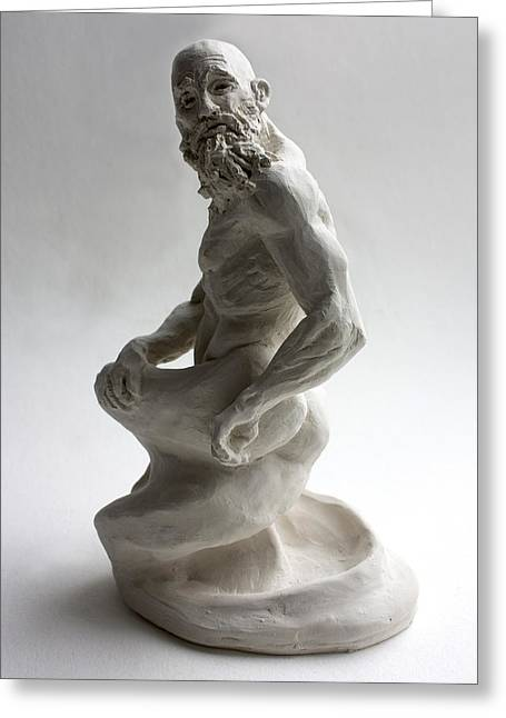 Fantasy Sculptures Greeting Cards - Genie Greeting Card by Derrick Higgins