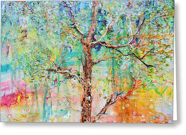 Tiled Reliefs Greeting Cards - Genome Greeting Card by Regina Valluzzi
