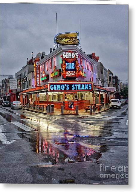 Geno's 7 Greeting Card by Jack Paolini
