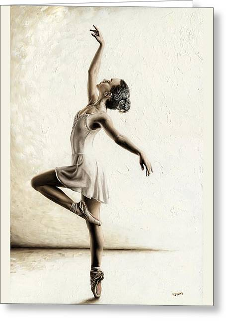 Athletic Greeting Cards - Genteel Dancer Greeting Card by Richard Young