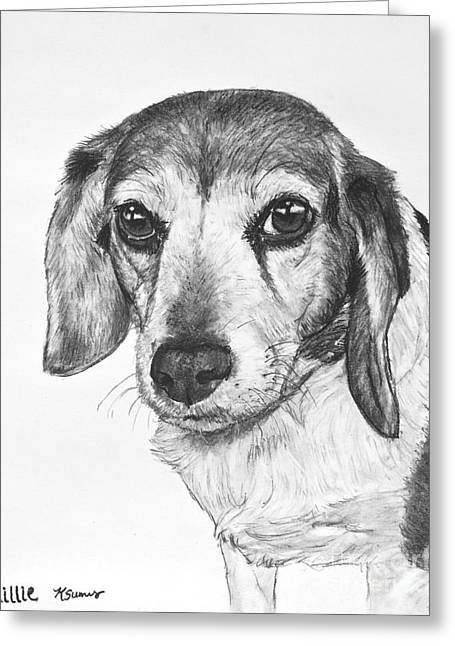 Beagle Puppies Print Greeting Cards - Gentle Beagle Greeting Card by Kate Sumners