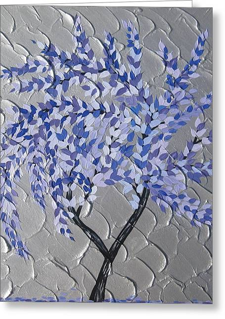 Abstract Art On Canvas Paintings Greeting Cards - Gentle Breeze Greeting Card by Cathy Jacobs