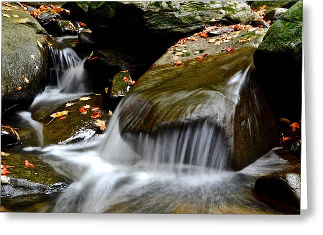 Sea Of Tranquility Greeting Cards - Gentle Falls Greeting Card by Frozen in Time Fine Art Photography