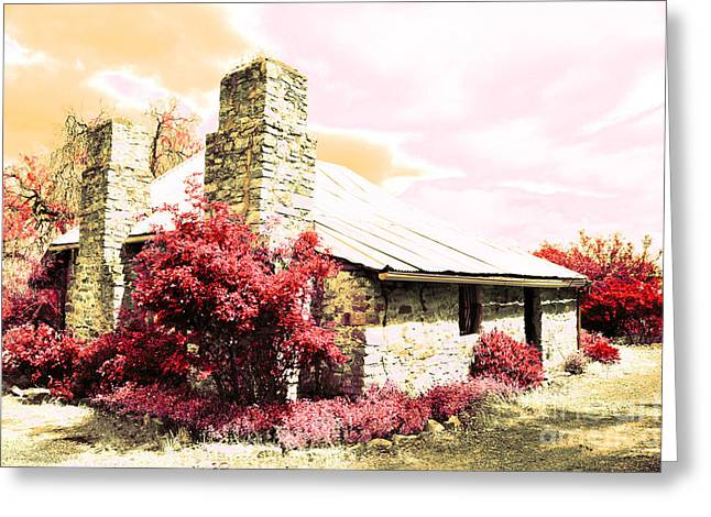 Gentle Farm House Greeting Card by Phill Petrovic