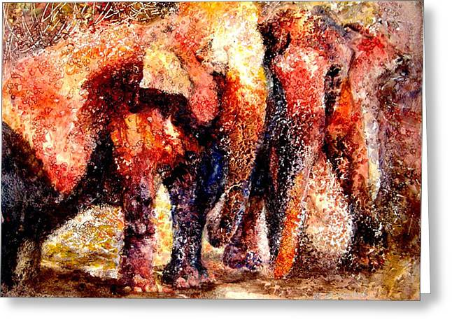 Mutual Support Greeting Cards - Gentle Giants Greeting Card by Beverly Berwick