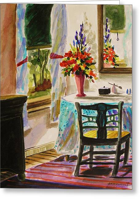 Interior Still Life Drawings Greeting Cards - Gentle Light  Greeting Card by John  Williams