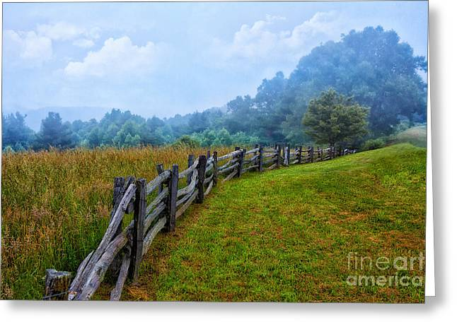 Gentle Morning - Blue Ridge Parkway I Greeting Card by Dan Carmichael