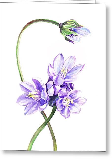 Purples Greeting Cards - Gentle Purple Flowers Greeting Card by Irina Sztukowski