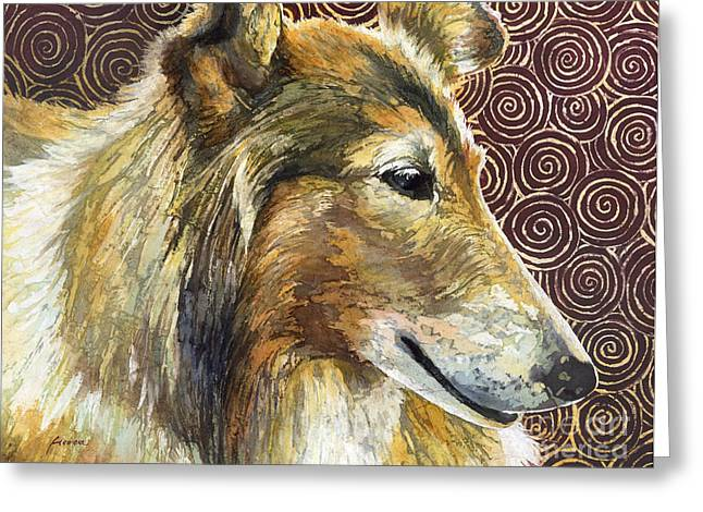 Collie Greeting Cards - Gentle Spirit - Reveille VIII Greeting Card by Hailey E Herrera