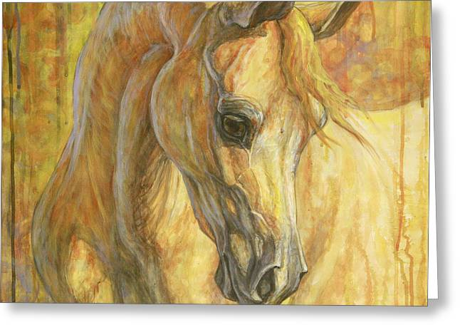 Horses Paintings Greeting Cards - Gentle Spirit Greeting Card by Silvana Gabudean