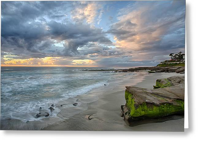Hdr (high Dynamic Range) Greeting Cards - Gentle Sunset Greeting Card by Peter Tellone