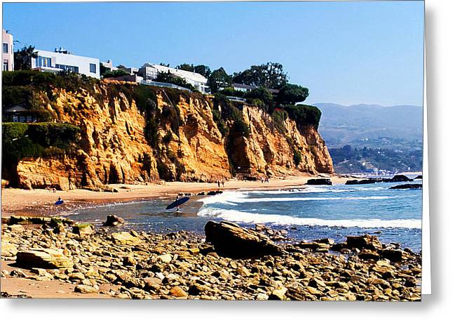Tv Commercial Greeting Cards - Gentle Surf at Paradise Cove Greeting Card by Ron Regalado