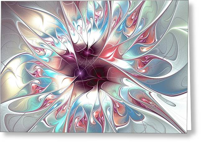 Hypnotizing Greeting Cards - Gentle Touch Greeting Card by Anastasiya Malakhova